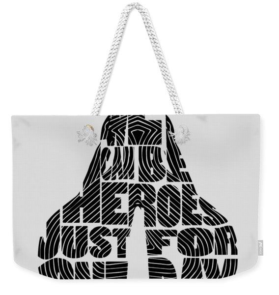 David Bowie Typography Art Weekender Tote Bag