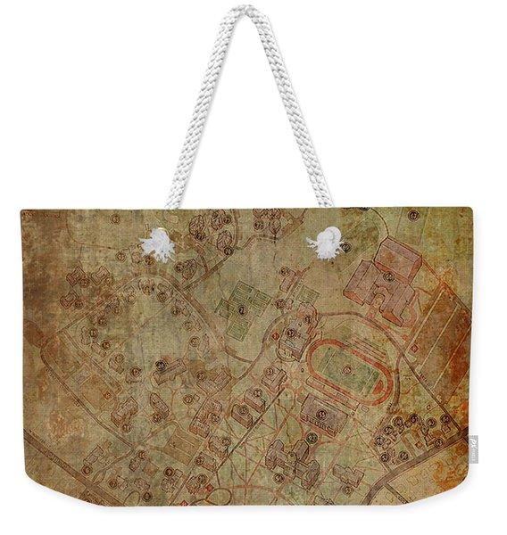 Davidson College Map Weekender Tote Bag