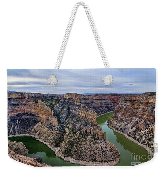 Dawn At Devils Overlook Bighorn Canyon Weekender Tote Bag