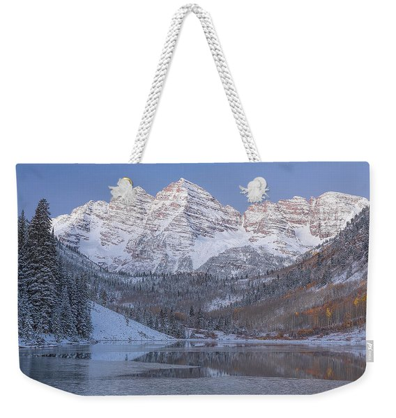 Weekender Tote Bag featuring the photograph Dawn At Maroon Bells 2 by Jemmy Archer