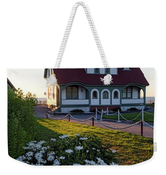 Dawn At Portland Head Light, Cape Elizabeth, Maine  -08614 Weekender Tote Bag