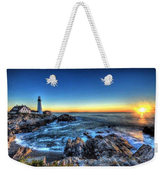 Dawn At Portland Head Lighthouse Weekender Tote Bag