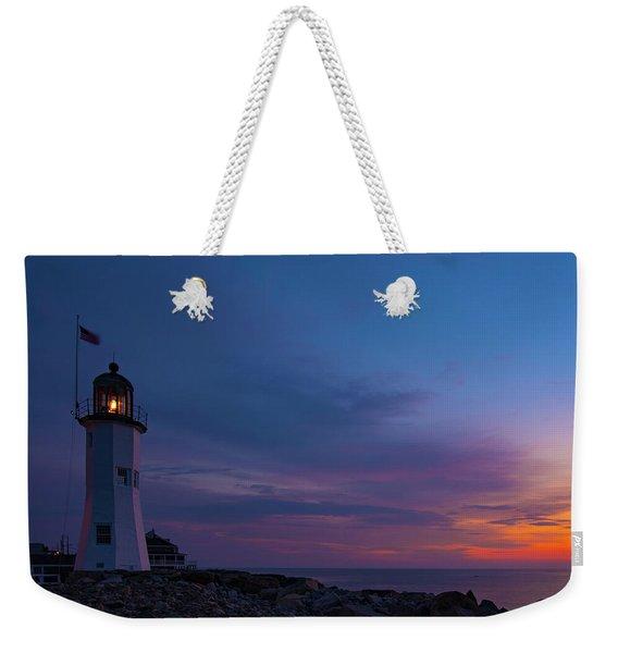 Dawn At Scituate Light Weekender Tote Bag