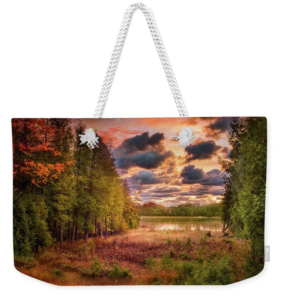 Dawn At The Lake Weekender Tote Bag