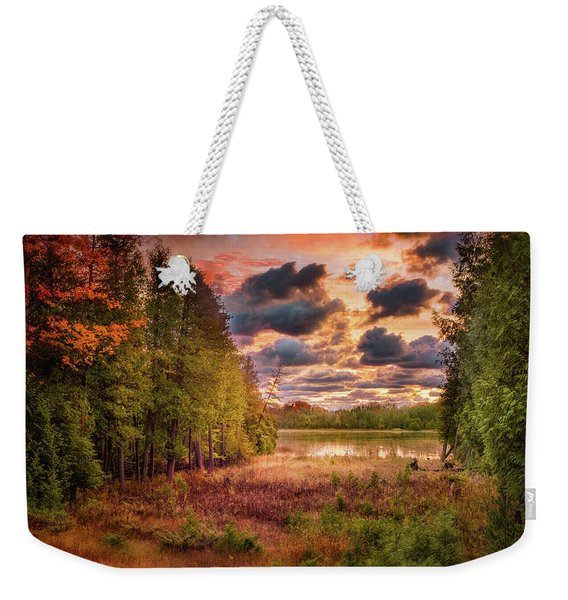 Dawn At The Lake Weekender Tote Bag