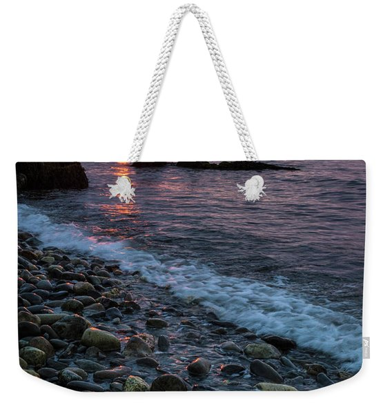 Weekender Tote Bag featuring the photograph Dawn, Camden, Maine  -18868-18869 by John Bald