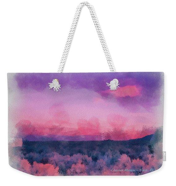 Dawn In Taos In Aquarelle Weekender Tote Bag