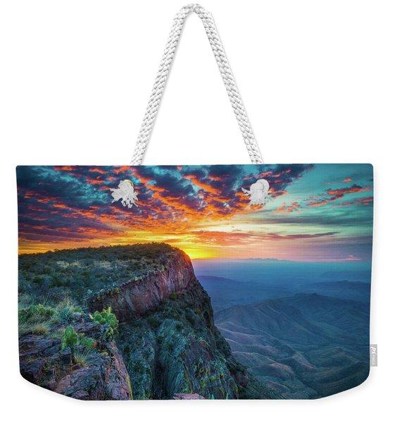 Dawn In The Chisos Weekender Tote Bag