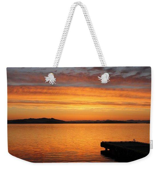 Dawn In The Sky At Dusavik Weekender Tote Bag