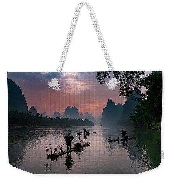 Waiting For Sunrise On Lee River. Weekender Tote Bag
