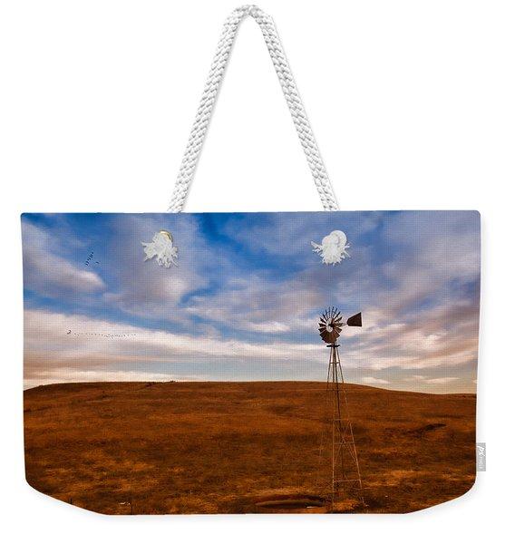 Dawn Prairie Windmill Weekender Tote Bag