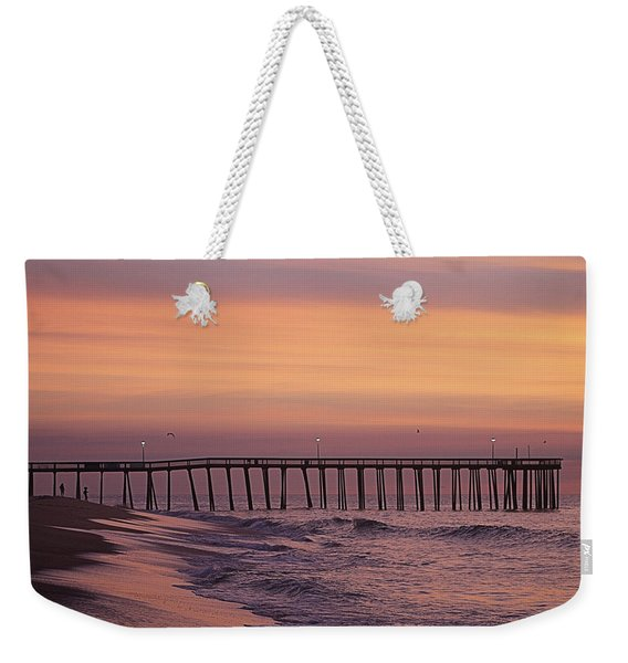 Dawns Purple Waters Weekender Tote Bag