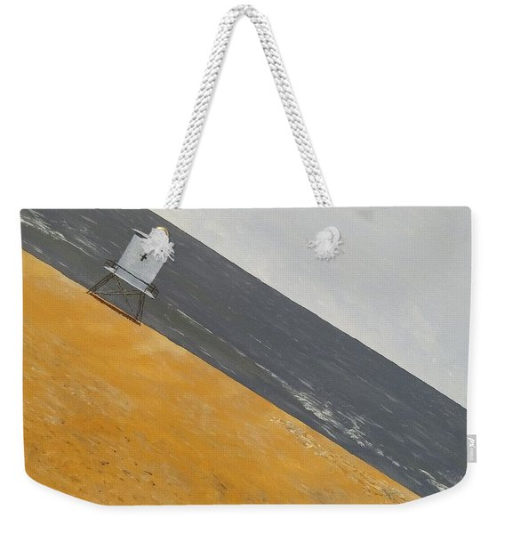 Weekender Tote Bag featuring the painting Day At The Beach by Kevin Daly