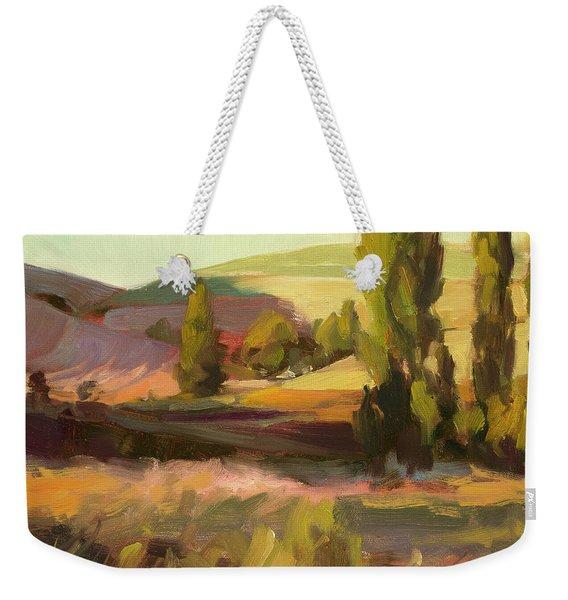 Day Closing Weekender Tote Bag
