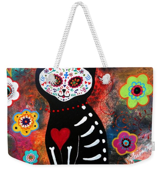 Day Of The Dead Cat El Gato Weekender Tote Bag