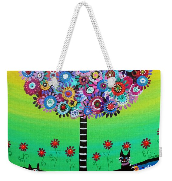 Day Of The Dead Cat'slife Weekender Tote Bag