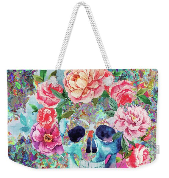 Day Of The Dead Watercolor Weekender Tote Bag