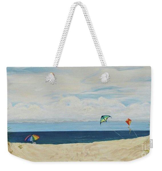 Day On Beach Weekender Tote Bag