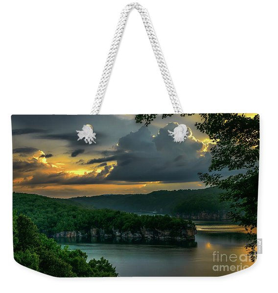 Daybreak Over Long Point Weekender Tote Bag