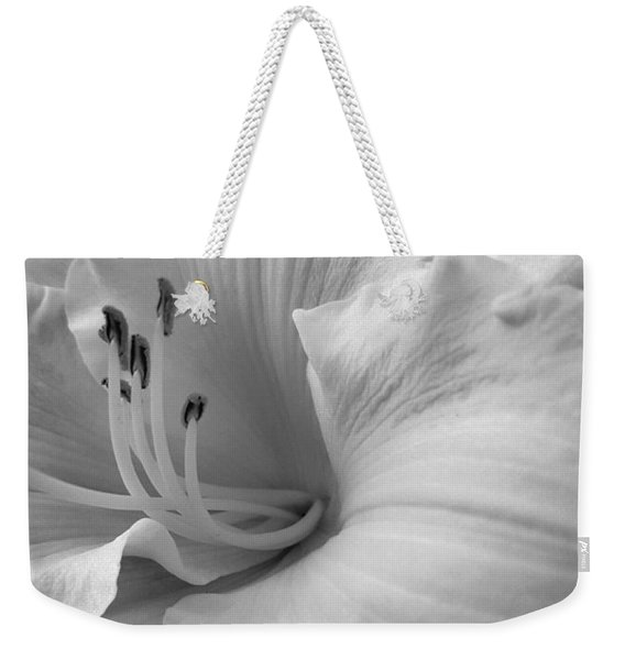 Daylily Delight In Black And White Weekender Tote Bag