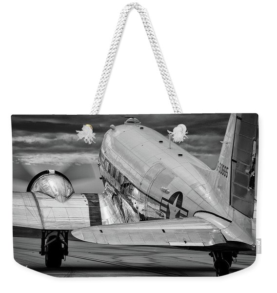 Dc3 Taxiing For Departure Weekender Tote Bag