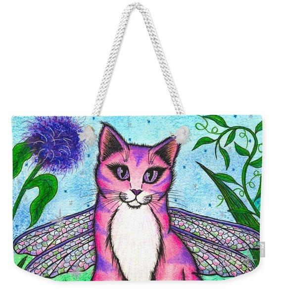 Dea Dragonfly Fairy Cat Weekender Tote Bag