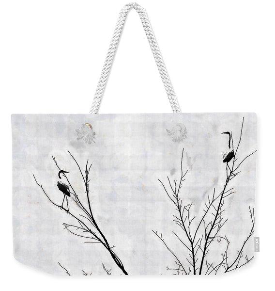Dead Creek Cranes Weekender Tote Bag