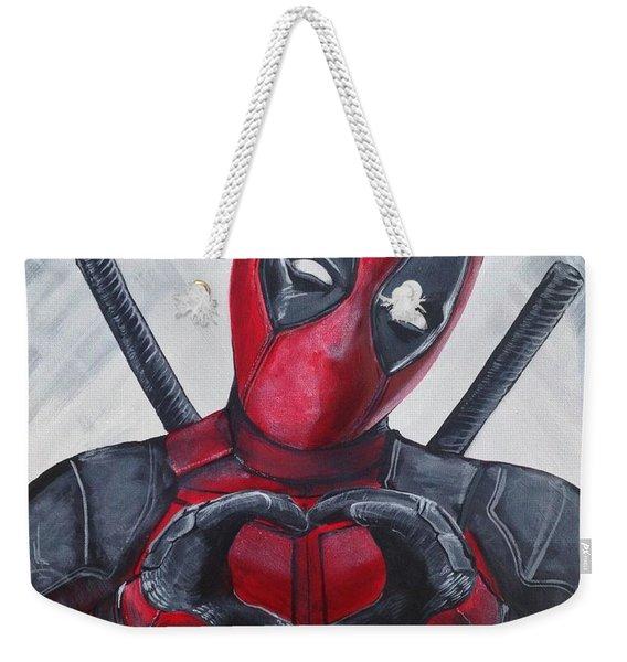 Deadpool Love Weekender Tote Bag
