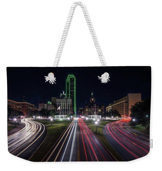 Dealey Plaza Dallas At Night Weekender Tote Bag