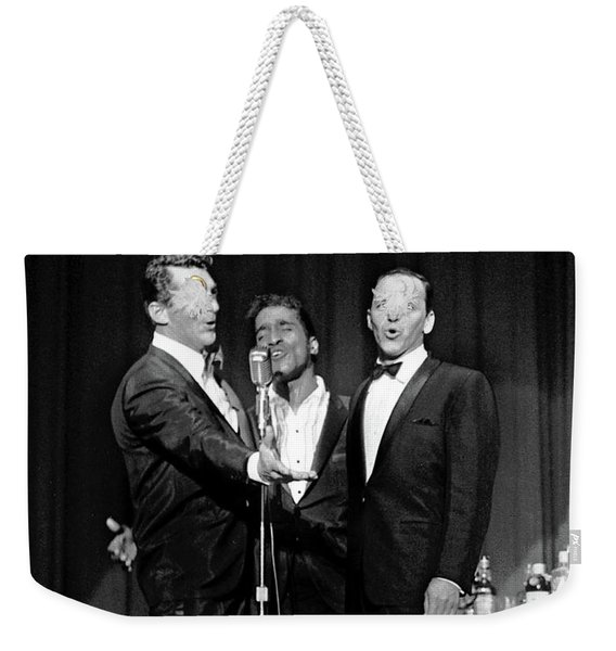 Dean Martin, Sammy Davis Jr. And Frank Sinatra. Weekender Tote Bag