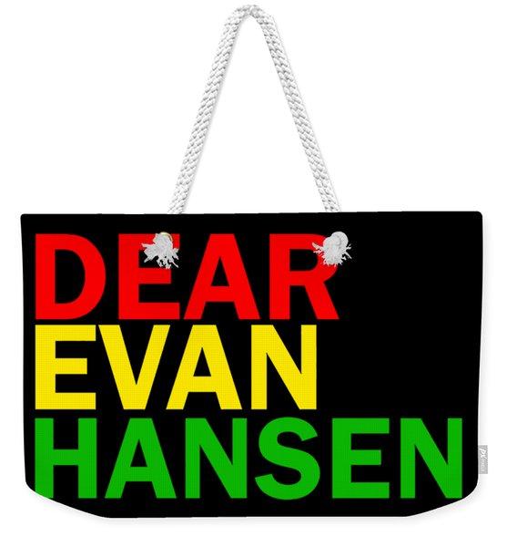 Dear Evan Hansen Weekender Tote Bag
