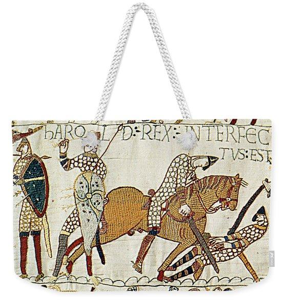 Death Of Harold, Bayeux Tapestry Weekender Tote Bag