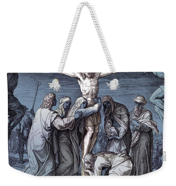 Death Of Jesus On The Cross, Gospel Of John Weekender Tote Bag
