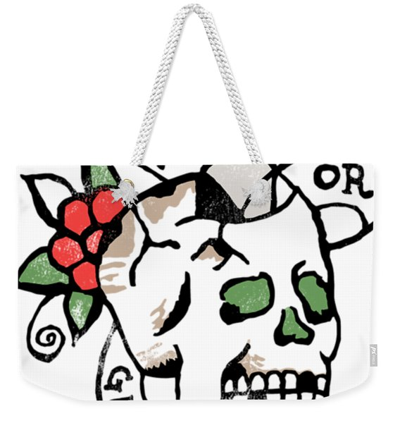 Death Or Glory, Retro, Skull Tattoo Design Weekender Tote Bag