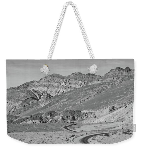 Weekender Tote Bag featuring the photograph Death Valley Road by Frank DiMarco