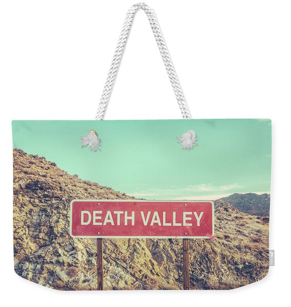 Death Valley Sign Weekender Tote Bag