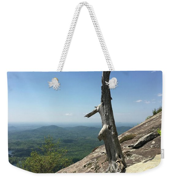 Decaying Tree At The Top Of Table Rock Trail South Carolina Weekender Tote Bag
