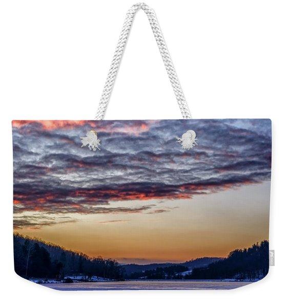 December Dawn On The Lake Weekender Tote Bag
