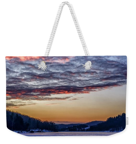 December Dawn On The Lake Weekender Tote Bag