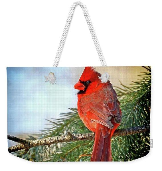 December's Cardinal Weekender Tote Bag