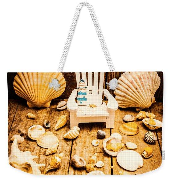 Deckchairs And Seashells Weekender Tote Bag