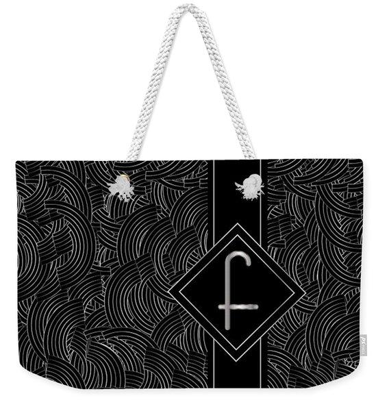 Deco Jazz Swing Monogram ...letter F Weekender Tote Bag