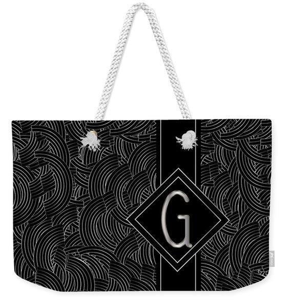 Deco Jazz Swing Monogram ...letter G Weekender Tote Bag