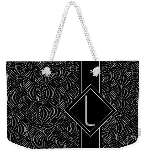 Deco Jazz Swing Monogram ...letter L Weekender Tote Bag