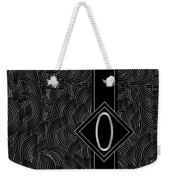 Deco Jazz Swing Monogram ...letter O Weekender Tote Bag