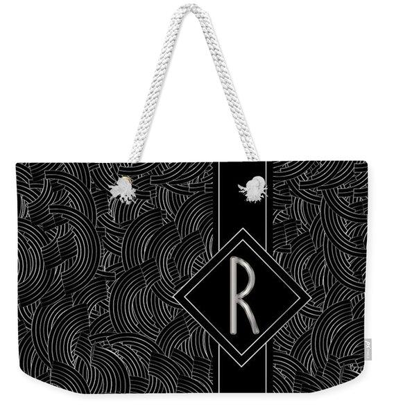 Deco Jazz Swing Monogram ...letter R Weekender Tote Bag