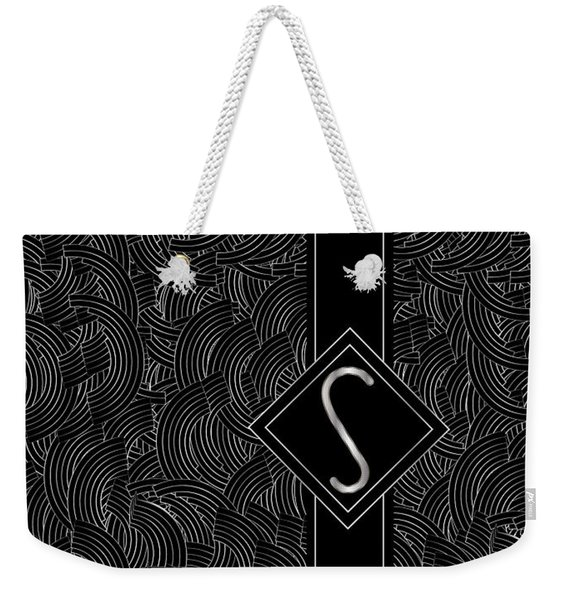 Deco Jazz Swing Monogram ...letter S Weekender Tote Bag