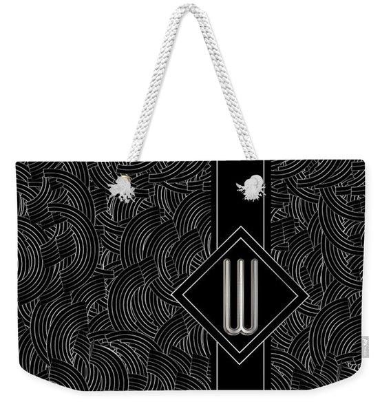 Deco Jazz Swing Monogram ...letter W Weekender Tote Bag