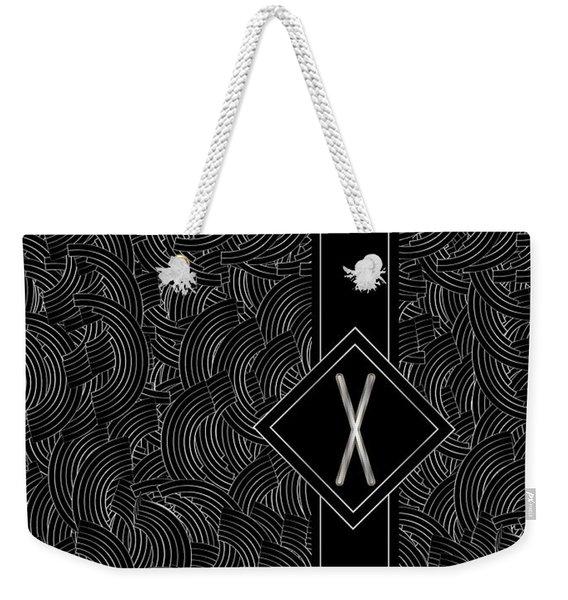 Deco Jazz Swing Monogram ...letter X Weekender Tote Bag