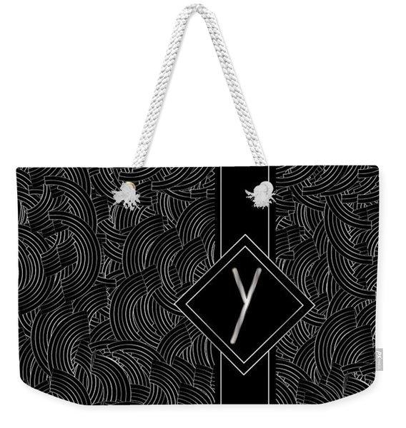 Deco Jazz Swing Monogram ...letter Y Weekender Tote Bag